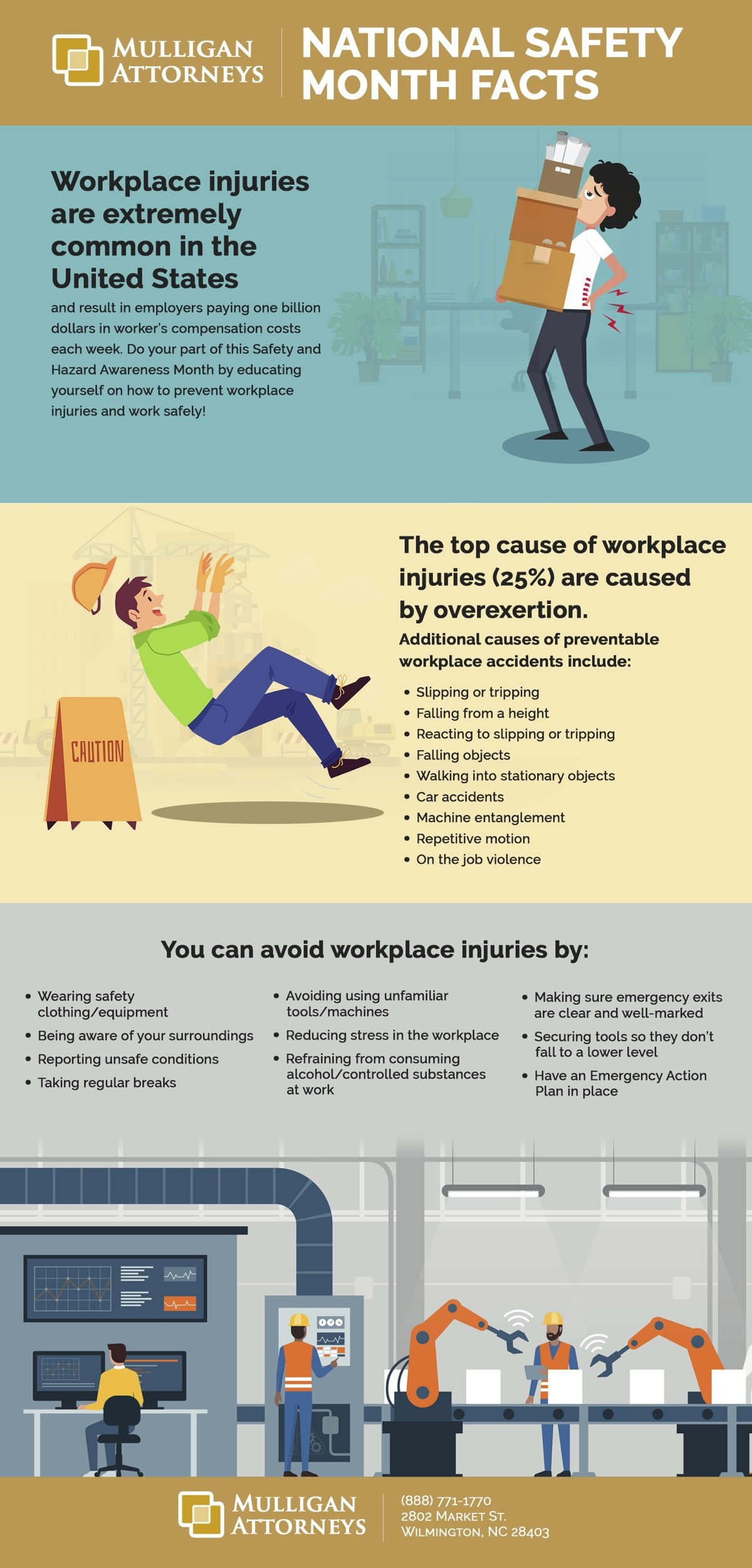 National Safety Month Workplace Injury Facts